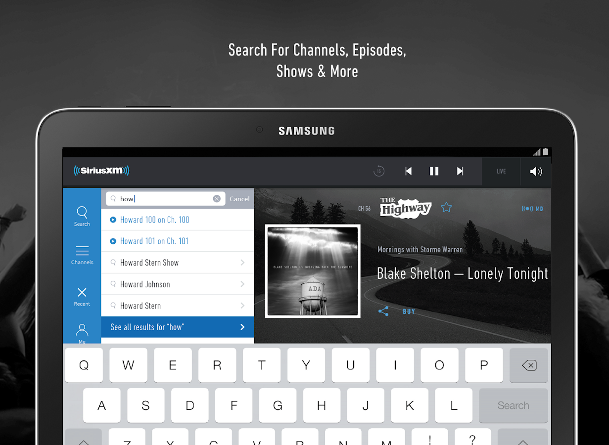SiriusXM - screenshot