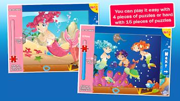 Screenshot of Mermaid Princess Puzzles Free!