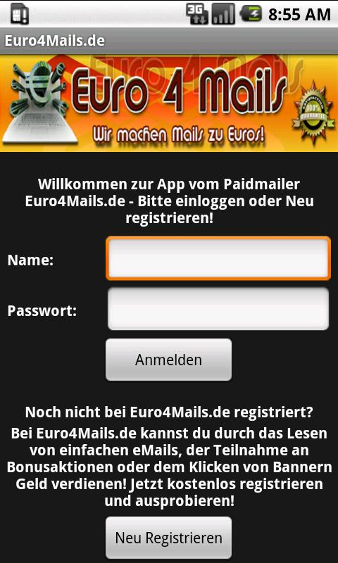 Euro4Mails.de - Geld verdienen - screenshot