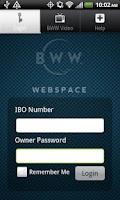 Screenshot of IBO Webspace