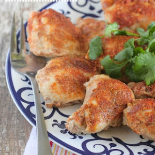 Southwest Buttermilk Baked Chicken Thighs.
