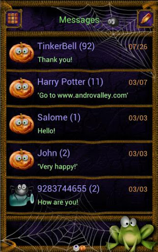 GOSMS POPUP Halloween Theme