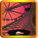 Sunset Roller Coaster in 3D icon