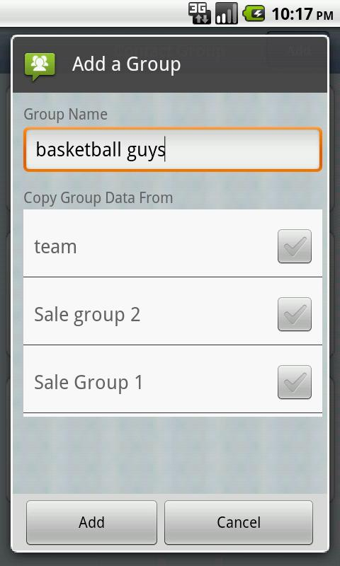 Contact Group- screenshot