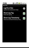 Screenshot of LogViewer Lite (LogCat)