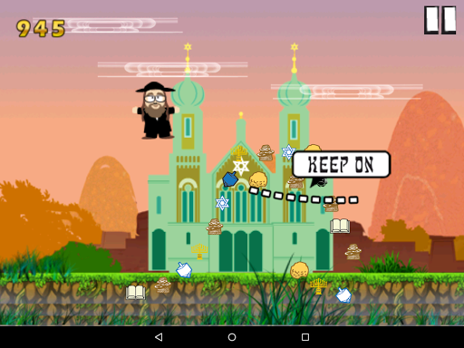 Flying Rabbi - Hanukkah game (apk) free download for Android/PC/Windows screenshot