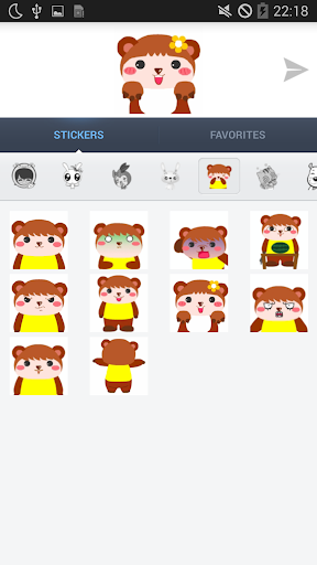 Screenshot for Animated Sticker for messenger in Hong Kong Play Store