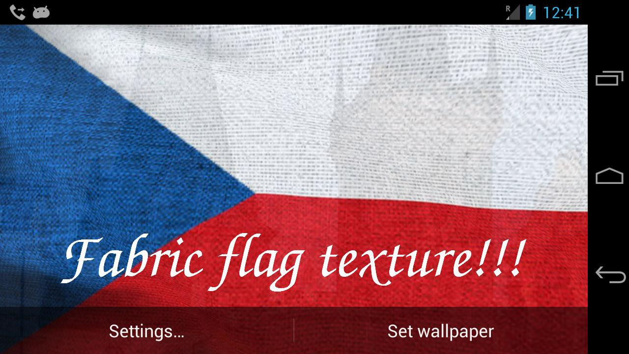 3D Czech Flag Live Wallpaper + - screenshot