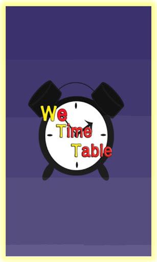 시간표 We TimeTable
