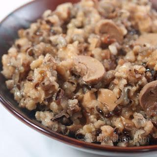 Slow Cooker Mushroom Wild Rice.