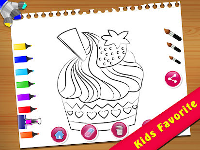 Cupcake Coloring Book Screenshot Thumbnail