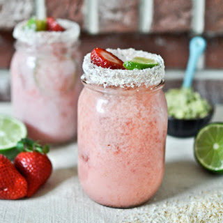 Fresh Strawberry Coconut Margaritas Recipe