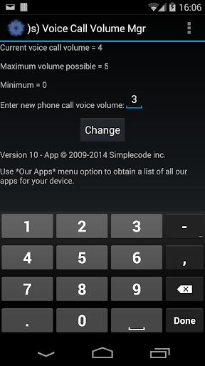 s Voice Call Volume Mgr