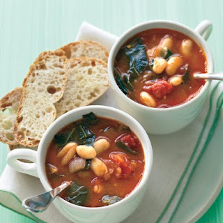 Minestrone with Collard Greens and White Beans.