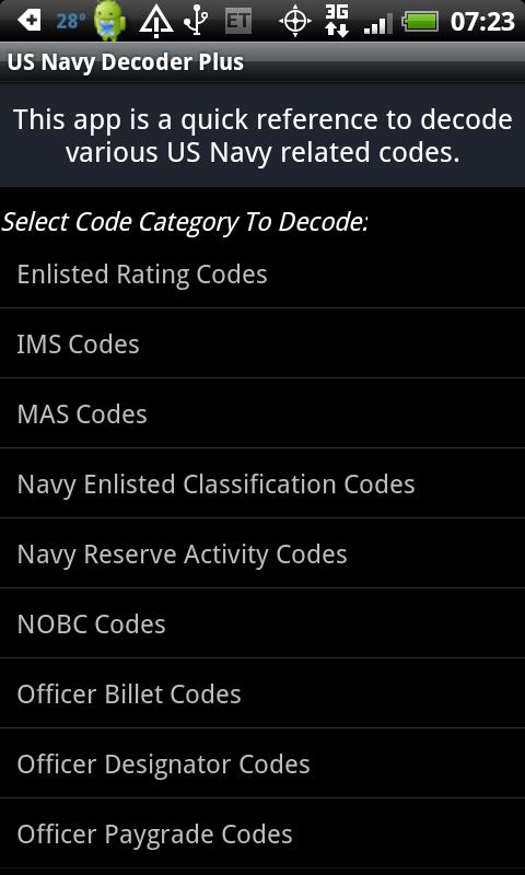 Decoder Plus for US Navy - screenshot