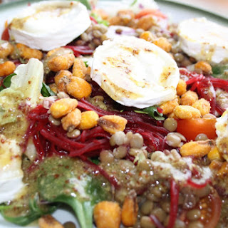 Goat Cheese and Lentil Salad.