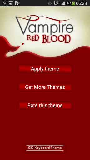 GO Keyboard Vampire Red Blood