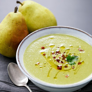 Spinach and Pear Soup with Pancetta