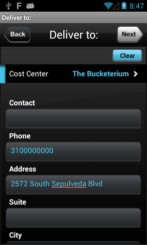 Digital Waybill Quick Entry - screenshot