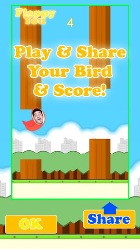 Flappy You: Dodge fun obstacles as a selfie bird Apk Download 5