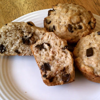 Vegan Banana Chocolate Chip Muffins.
