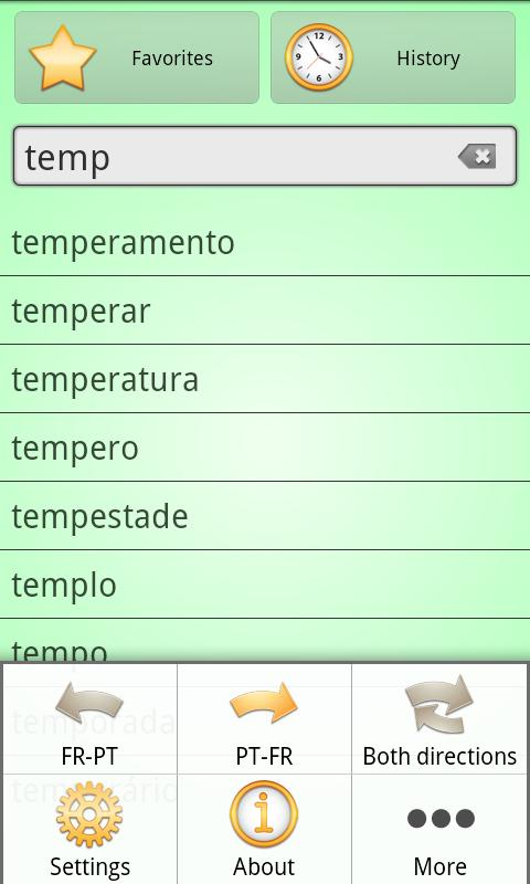 French Braz.Portuguese Dict - screenshot