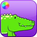Kids Reptiles Coloring Game logo