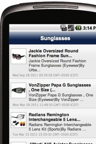 Sunglasses - screenshot