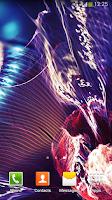 Screenshot of Neon Flowers Live Wallpaper