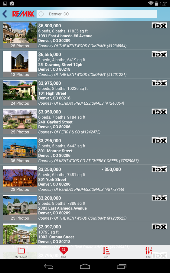 RE/MAX Real Estate Search - screenshot