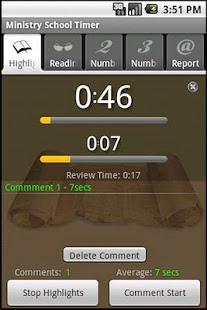 Ministry School Timer - screenshot thumbnail