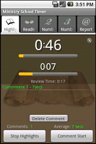 Ministry School Timer- screenshot