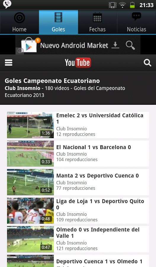 Futbol Ecuatoriano 2015 - screenshot