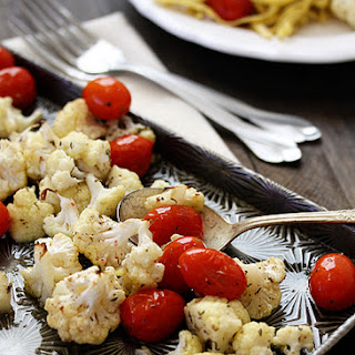 Roasted Cauliflower and Tomatoes.