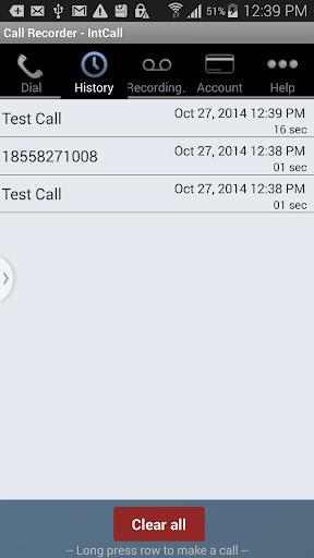 Call Recorder - IntCall  screenshots 4