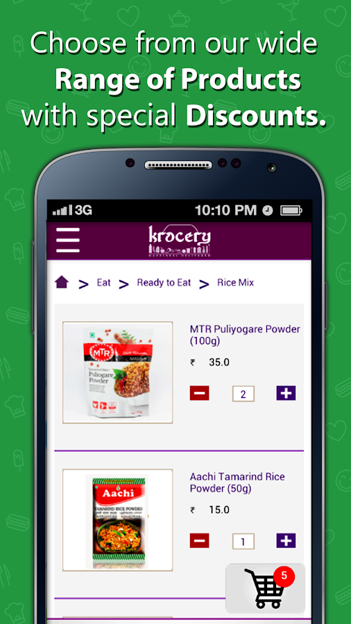 Krocery - Online grocery store - screenshot