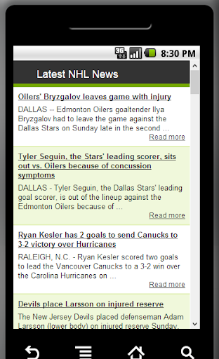 Latest NHL News