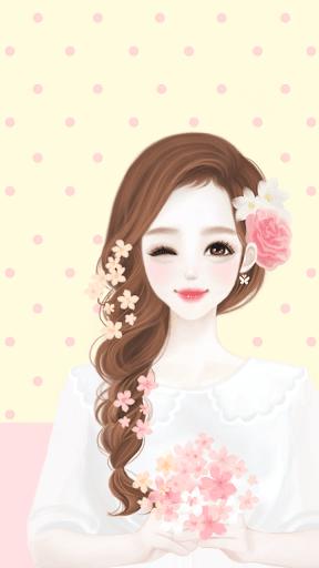 헷지 봄봄 카카오톡 테마