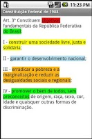 Screenshot of Vade Mecum Juridico PRO