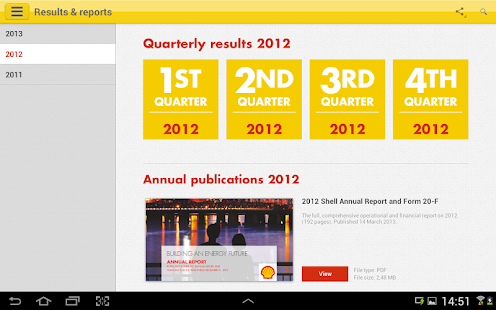 Shell Investor & Media- screenshot thumbnail