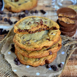 Reese's Stuffed Giant, Chewy Chocolate Chip Cookies.