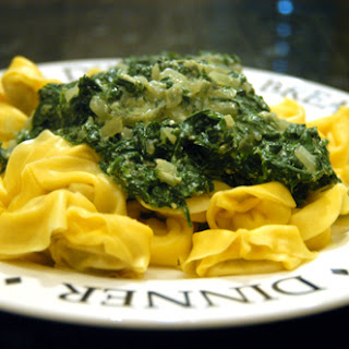 Spinach and Ricotta Cheese Pasta Sauce recipe – 125 calories.
