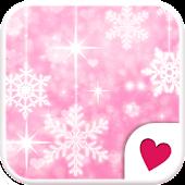 Cute wallpaper★pink color snow