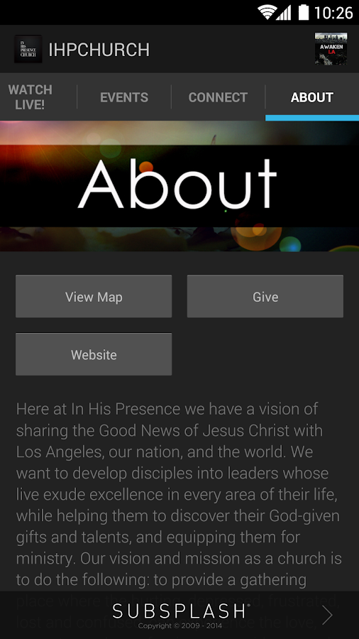 In His Presence Church - screenshot