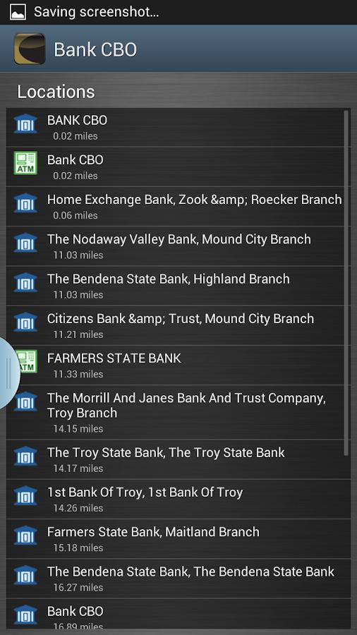 Bank CBO- screenshot