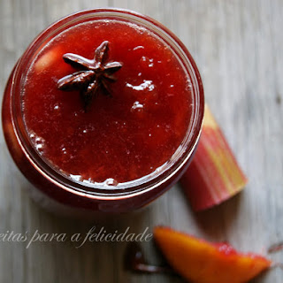 Plum and Rhubarb Preserve.