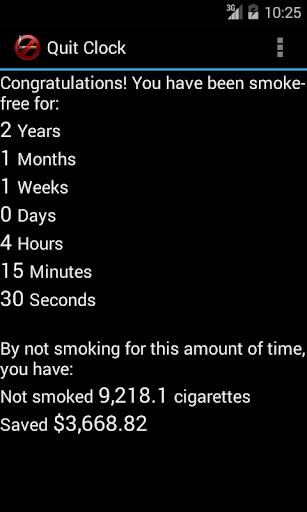 Ex-Smoker's Quit Clock