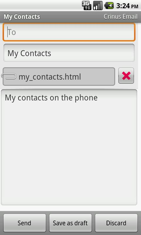 Email Contacts - screenshot