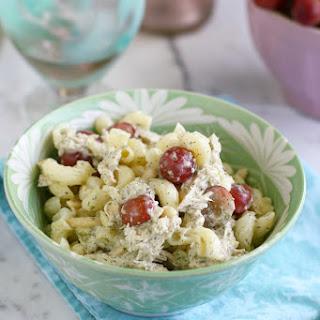 Chicken Avocado Dill Pasta Salad.