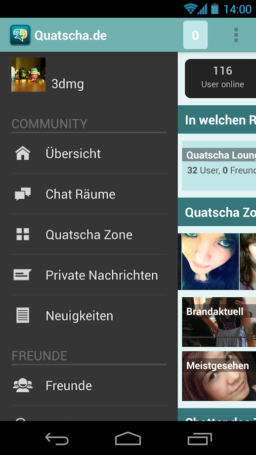 Quatscha.de Chat - screenshot